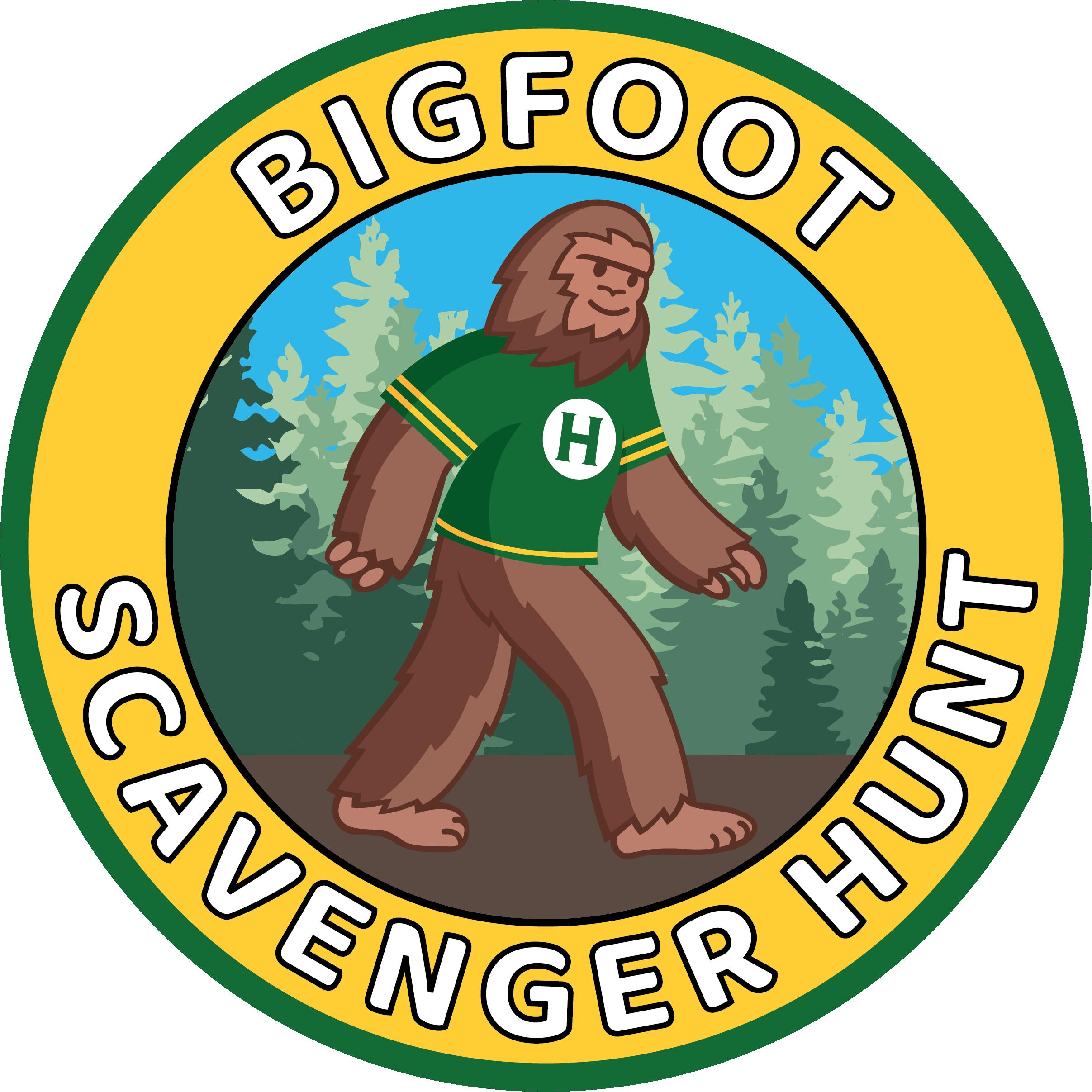 Bigfoot Scavenger Hunt. [Image of Bigfoot]: Click to link to Scavenger Hunt Form